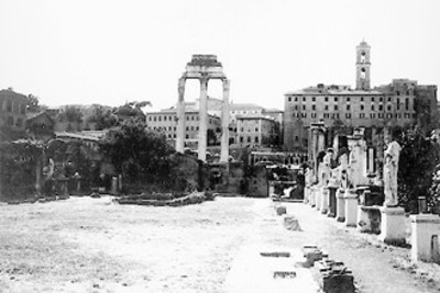 Ruinas del templo de Cástor y Pólux