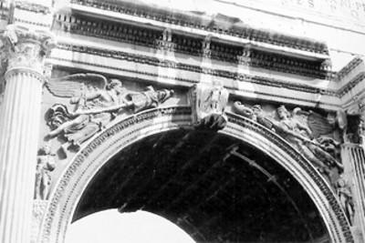 Arco de Septimio Severo, vista parcial
