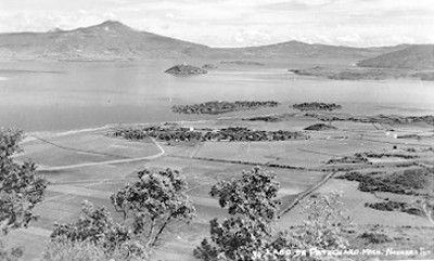 """""""Lago de Pátzcuaro"""", tarjeta postal"""
