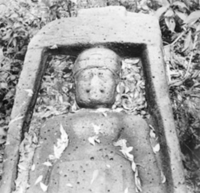 Escultura prehispánica, vista parcial