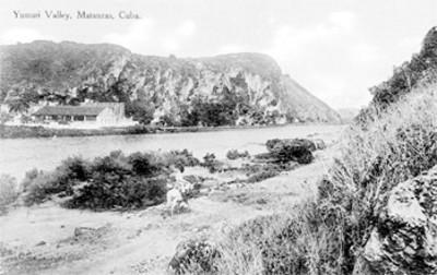 Valle Yumuri, en Matanzas, Cuba, tarjeta postal