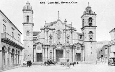 Catedral de La Habana, Cuba, tarjeta postal