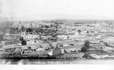 Panorámica de Toluca, tarjeta postal