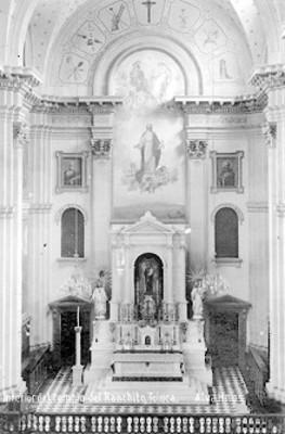 Interior de la iglesia de San José El Ranchito, Toluca, tarjeta postal