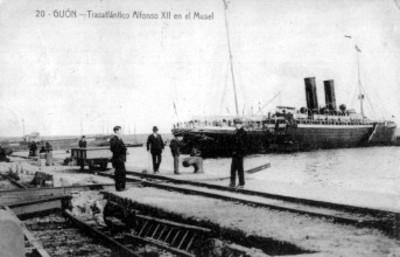 """Vista del """"Trasatlántico Alfonso XII"""""""