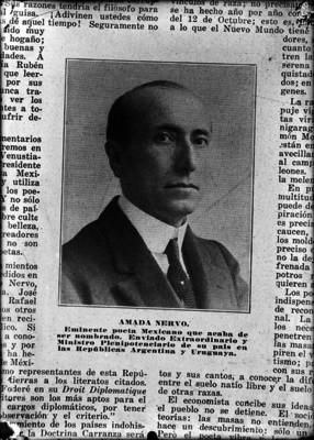 Amado Nervo, poeta y embajador, retrato