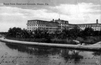 "Panorámica del ""Royal Palm Hotel"" en Florida"