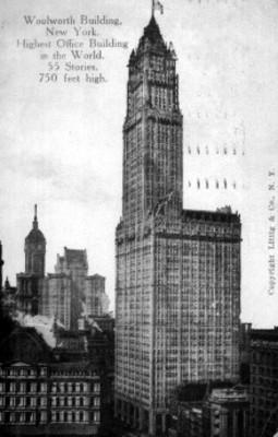Vista del Edificio Woolworth en Nueva York