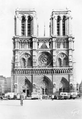 "Fachada de la Catedral de Notre Dame, ""Façade de la cathédrale Notre-Dame"""