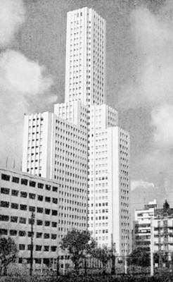 """Edificio Atlas"", exterior, vista parcial, tarjeta postal"