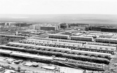 """Brasilia, vista aérea, edificios locais"", tarjeta postal"
