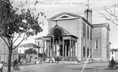 Iglesia de San Leopoldo, fachada, tarjeta postal