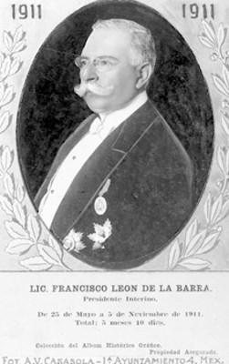 """""""Lic. Francisco León de la Barra"""", retrato de tres cuartos de perfil"""