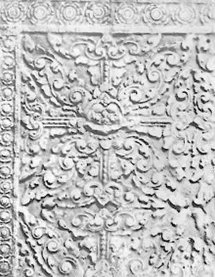 Relieve escultórico, detalle, pieza de museo