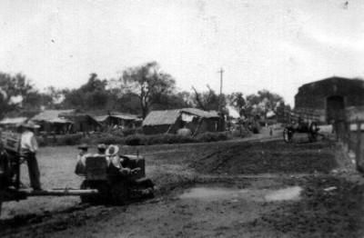 """""""Llegada"""" del tractor al """"Rancho San Pedro del Monte"""""""