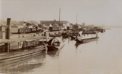 """Embarcaciones ancladas a orillas del """"Puerto de Alvarado Edo. de Veracruz"""""""