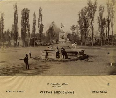 Paseo de Juárez. Vistas Mexicanas. Juarez Avenue