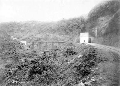 Puente y tunel ferroviario, vista general