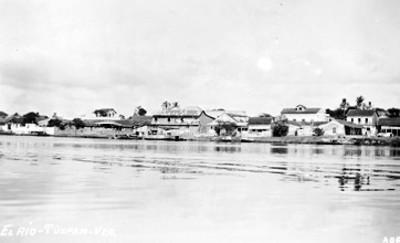 """""""El río Tuxpan Ver."""", vista parcial"""