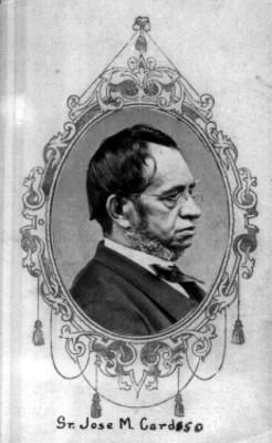 """""""Sr. José M. Cardoso"""", retrato"""