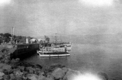 Vista del puerto de Veracruz con embarcaciones