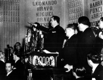 Manuel Ávila Camacho rinde protesta de Ley como Presidente