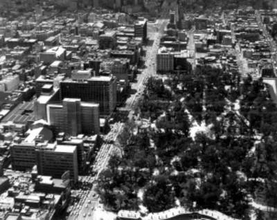 Alameda en la Ciudad de México, vista aérea