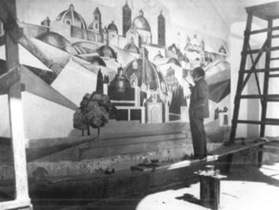 "Gerardo Murillo, ""Dr. Atl"", pintura mural"
