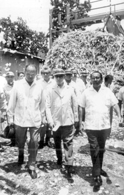El presidente Luis Echeverría de gira por Zacatecas