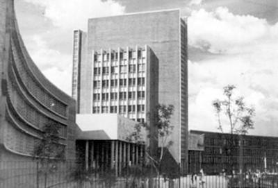 Edificio de la Escuela Nacional del Maestros, exterior