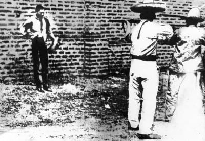 Fusilamiento de un delincuente