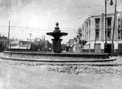 Av. Chapultepec y Bucareli, histórica fuente del antiguo Paseo de Bucareli