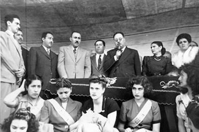Marte R. Gómez inaugura la exposición Nacional 1945