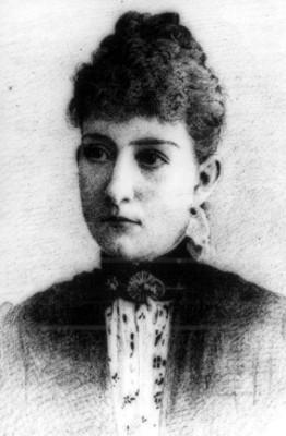 Carmen Romero Rubio, retrato, litografía