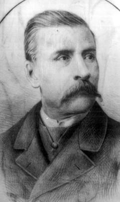 Porfirio Díaz Mori, presidente, grabado