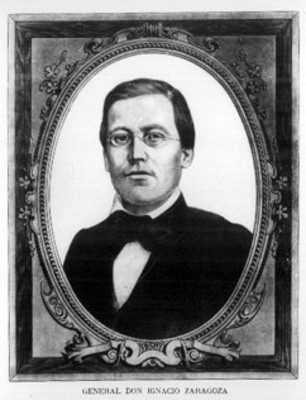 """General Don Ignacio Zaragoza"", pintura; retrato"