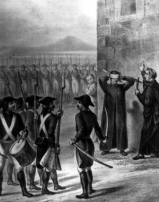Pintura del fusilamiento de Morelos
