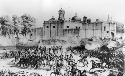 Batalla del convento de San Diego Churubusco, litografía