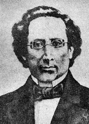 Hombre con anteojos, grabado