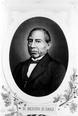 """""""D. Benito Juárez"""", retrato"""
