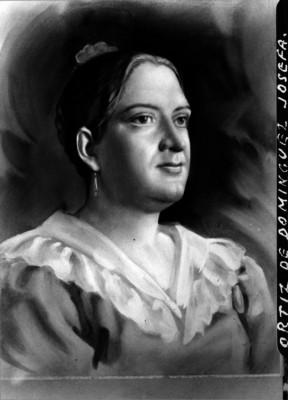 Josefa Ortiz de Dominguez, heroína de la Independencia, pintura de caballete, retrato