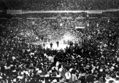 Ceremonia de Partidos Políticos en un estadio
