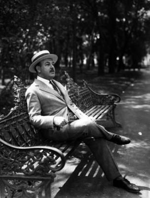 Alfonso Reyes en un jardín, retrato