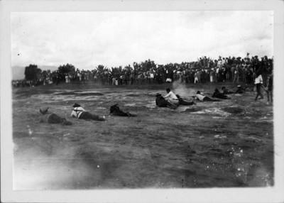 Federales realizan una representación de la Batalla del 5 de Mayo