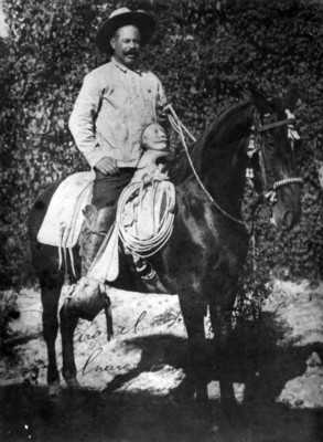 Francisco Villa monta a caballo, retrato