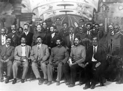 Eulalio Gutiérrez y los jefes de la Diputación del Norte, retrato de grupo