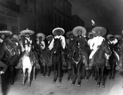 Zapatistas entran a la ciudad de México, vista nocturna