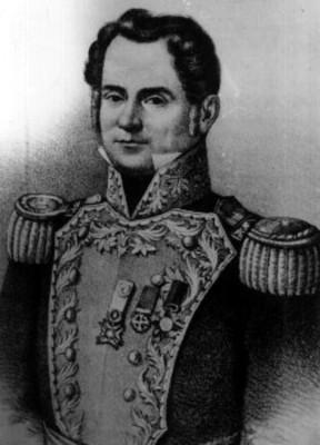 Anastasio Bustamante, litografía