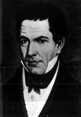 """Retrato de """"José Ma[ría] Luis Mora"""", reprografía"""