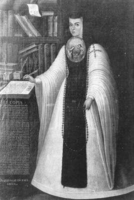 Sor Juana Inés de la Cruz, reprografía de una pintura